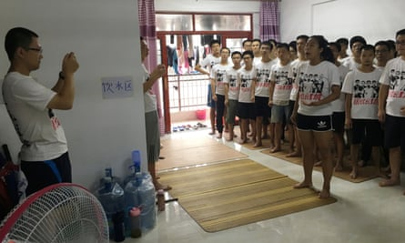 Activists supporting the factory workers are pictured inside an apartment in Huizhou.