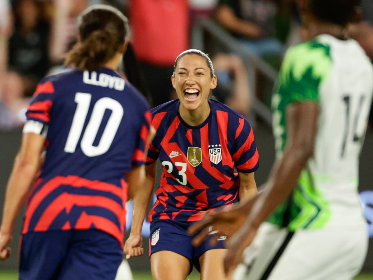 Christen Press Spurs Uswnt To Victory Over Nigeria As Olympic Cuts Loom Usa Women S Football Team The Guardian