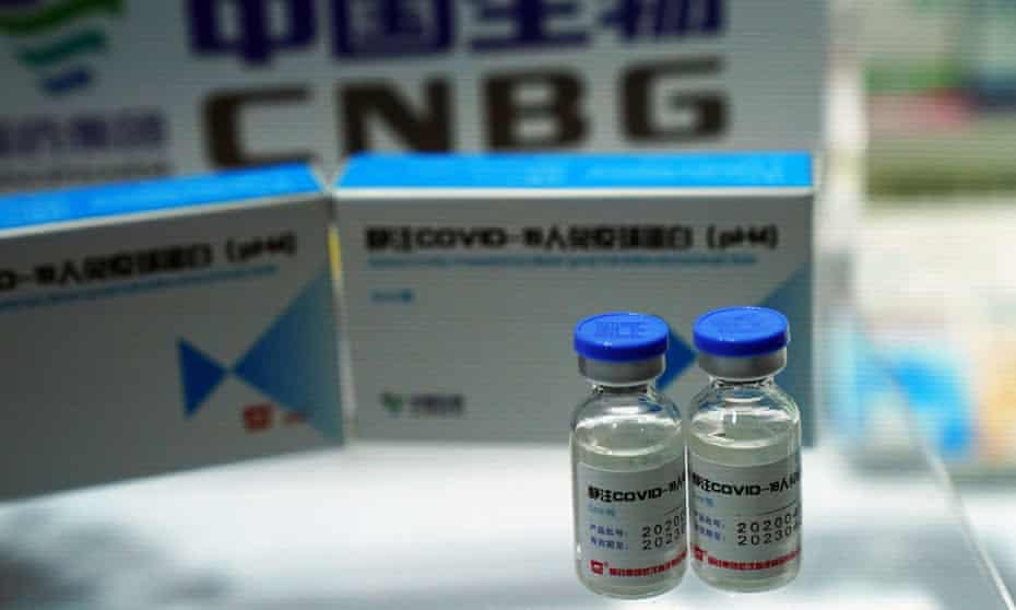 A booth displaying a coronavirus disease (COVID-19) Human Immunoglobulin for Intravenous Injection from China National Biotec Group (CNBG), a unit of state-owned pharmaceutical giant China National Pharmaceutical Group (Sinopharm), is seen at the 2020 China International Fair for Trade in Services