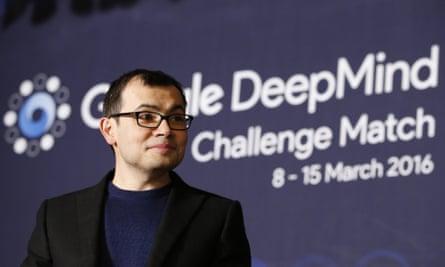 Google DeepMind CEO Demis Hassabis at the AlphaGo challenge match between human champion Lee Sedol, and Deepmind's computer