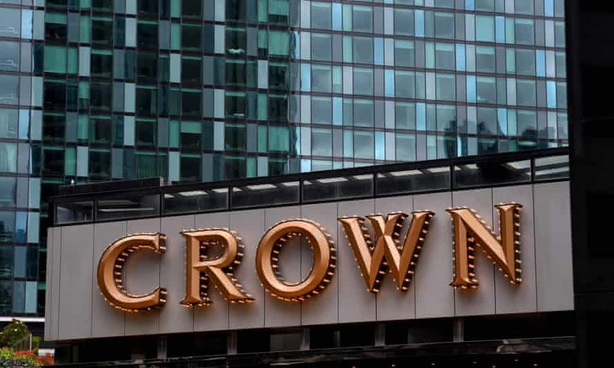 Crown sign in Melbourne
