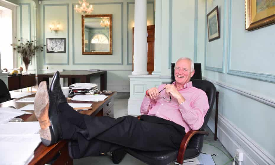 'I've been lost without sport': Barry Hearn at his Matchroom headquarters in London.