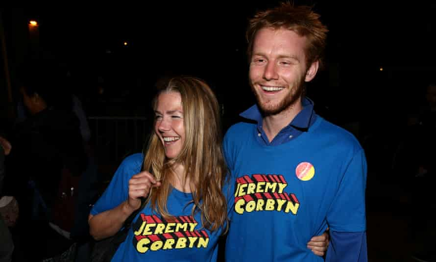 Supporters of Jeremy Corbyn, leader of Britain's opposition Labour Party.