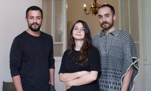 Helem's three paid staff (from left): Joseph Aoun, Genwa Samhat and Wael Hussein.