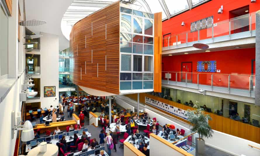 The atrium within the academic building at Queen Margaret.