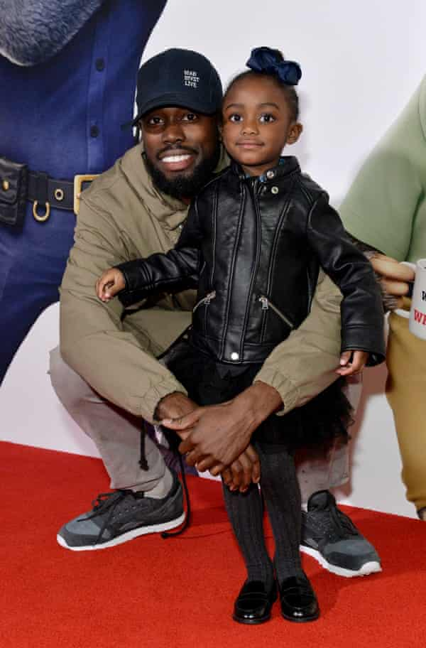 Ghetts with his daughter in 2016.