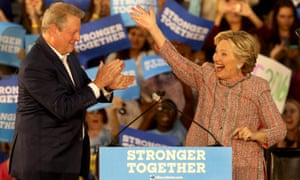 Hillary Clinton and Al Gore.