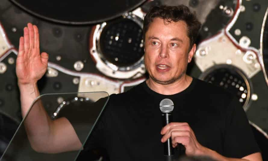 Tesla chief Elon Musk at the SpaceX launch on Monday night. Musk said he had 'funding secured' for taking Tesla private – but it later emerged that was not the case.