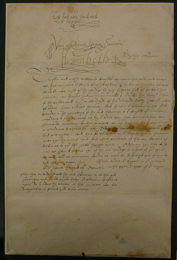 Elizabeth I S Suspicion Of Mary Queen Of Scots Writ Large In Donated Letters Books The Guardian