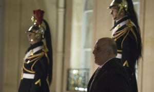 Iraqi Prime Minister Haider al-Abadi leaves the Elysee Palace in Paris after a meeting with French President Francois Hollande on 3 December 2014.