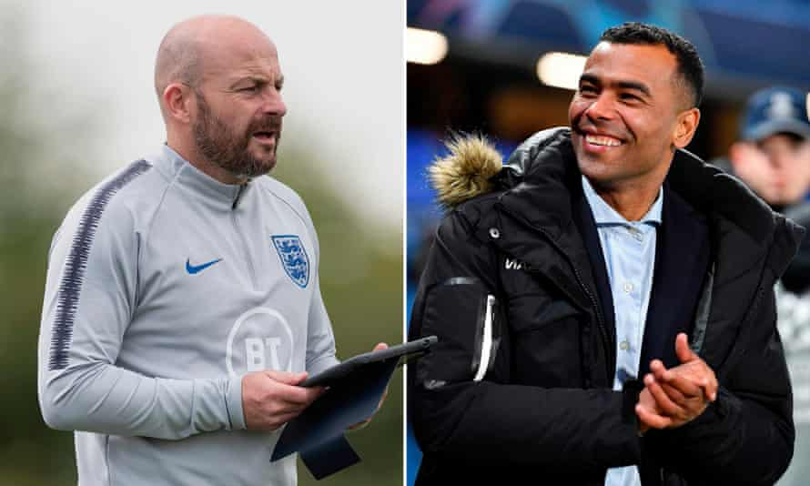Lee Carsley and Ashley Cole.