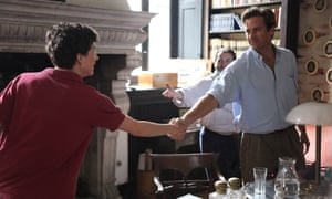 Timothée Chalamet, left, and Armie Hammer in a scene from Call Me By Your Name.
