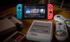 The Nintendo Switch, alongside the recently-released SNES Mini and NES Mini consoles.