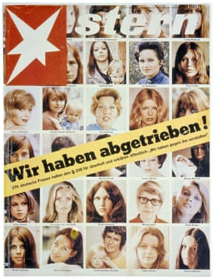 The cover of Stern magazine in June 1971. The strapline says 'We've had abortions.'