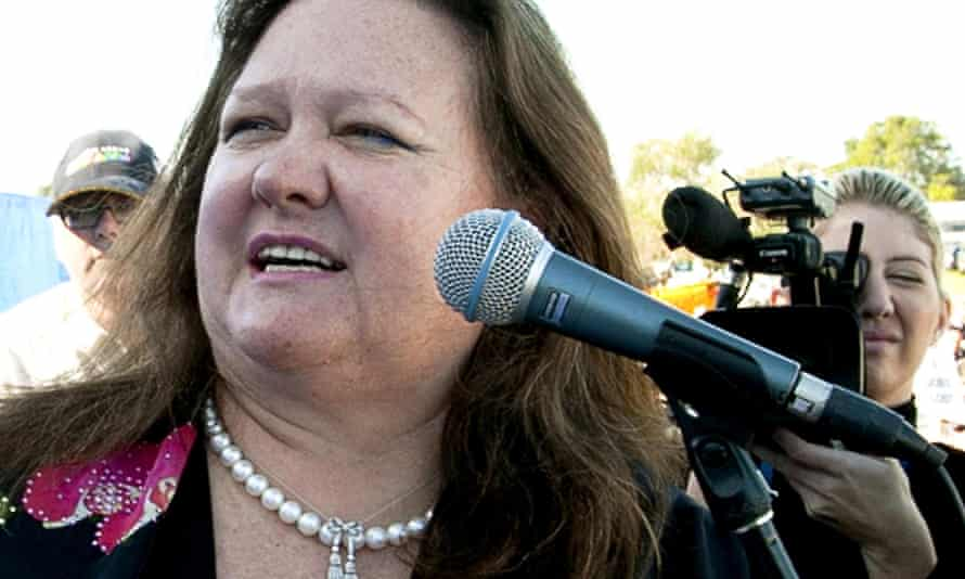 Australian mining magnate Gina Rinehart's companies would be exempt from having their basic tax information published under a Coalition proposal.
