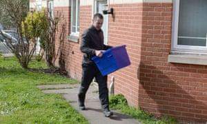 Police in Winson Green, Birmingham, on Thursday.
