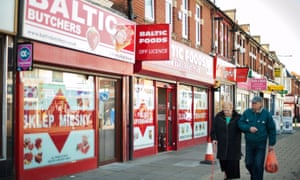 Shop front of the polish food store called Baltic on Shirley High Street in Southampton