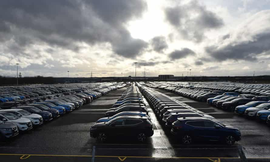 cars parked at nissan's sunderland factory