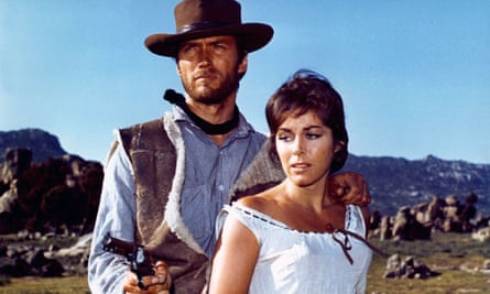 Clint Eastwood and Marianne Koch in A Fistful Of Dollars, one of the Sergio Leone films scored by Ennio Morricone.