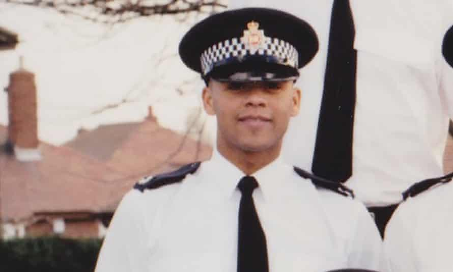 In his class at the end of National Police Training in Cheshire, 2002.