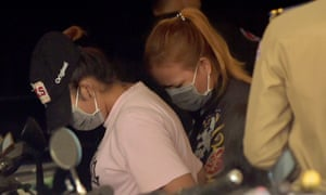 Cambodian women arrested for their alleged involvement in an illegal surrogacy business outside a Phnom Penh municipal court.