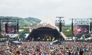 Front and centre … Glastonbury's Pyramid stage.