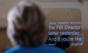 Hillary Clinton speaks about the FBI inquiry into her emails during a campaign rally in Daytona Beach, Florida, 29 October, 2016.