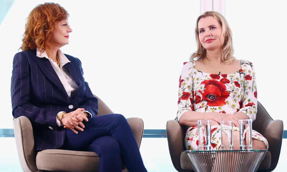 Susan Sarandon and Geena Davis attend Kering Talks Women In Motion At The 69th Cannes Film Festival