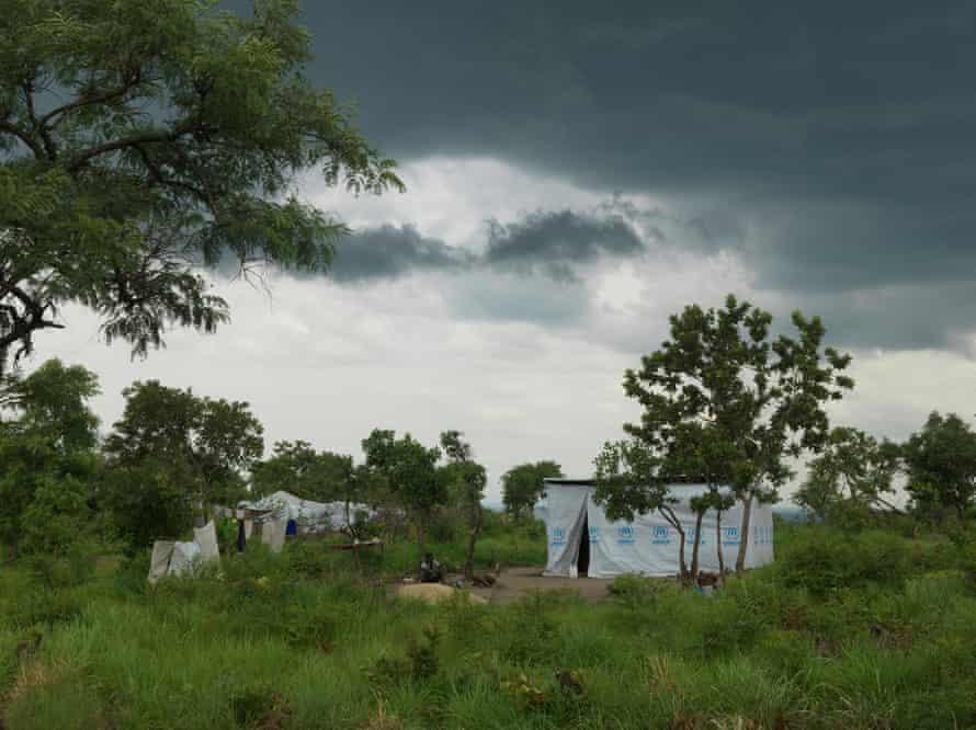 Makeshift homes in Imvepi.