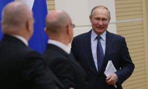 Vladimir Putin in Moscow