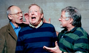 Tim Brooke-Taylor (centre) with fellow Goodies, Graeme Garden (left) and Bill Oddie (right)