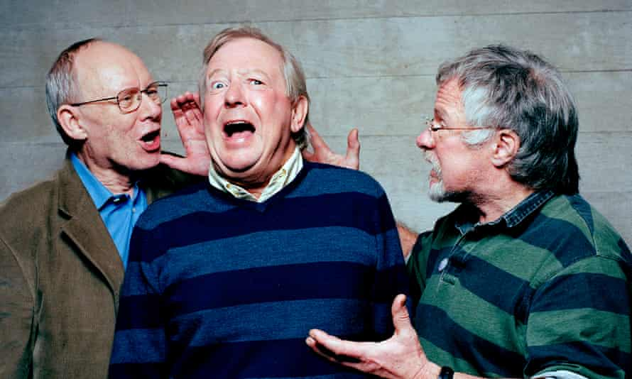Tim Brooke-Taylor (centre) with fellow Goodies Graeme Garden (left) and Bill Oddie in 2015
