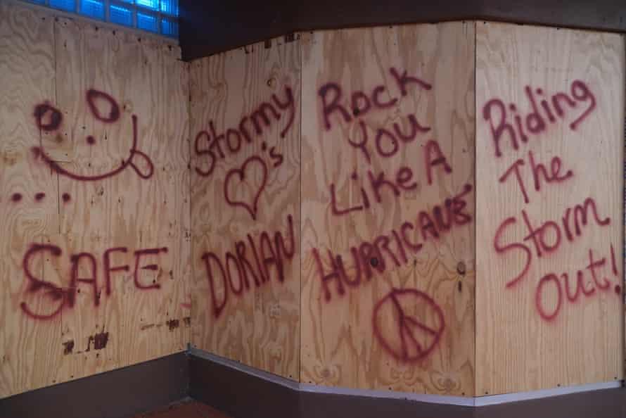 Hurricane preparations in Daytona Beach.