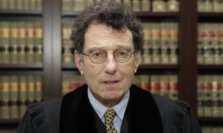 Judge Dan Polster in his office in Cleveland.