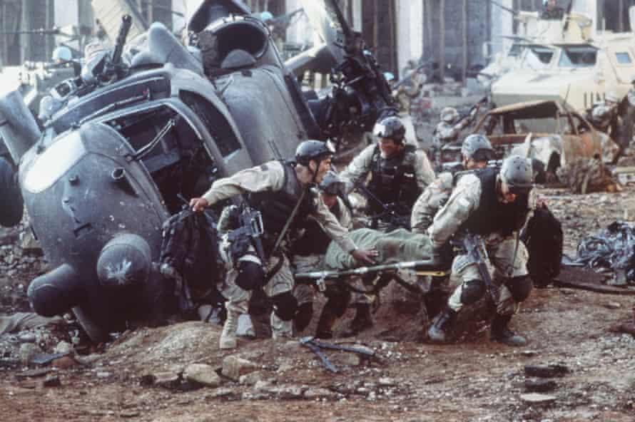 Ridley Scott's Black Hawk Down scene.