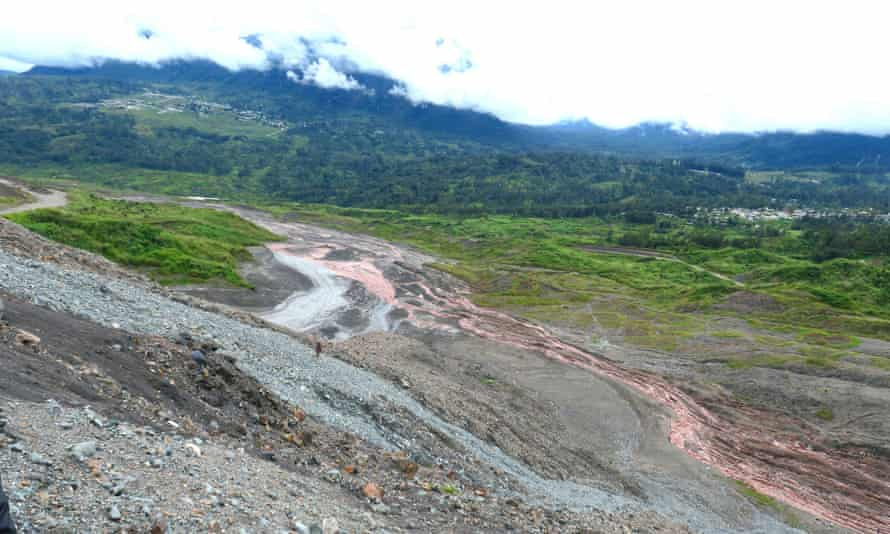 A view of tailings at Barrick Gold Corp's Porgera mine, Papua New Guinea.