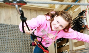 A girl at Adrenalin Quarry, Cornwall
