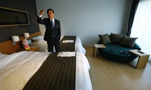 Hideo Sawada in one of the hotel's rooms.
