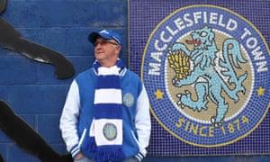 A Macclesfield fan outside the ground