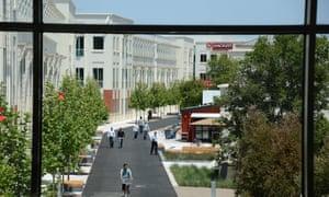 Facebook main campus in Menlo Park, California