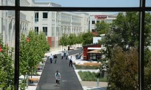 The Facebook main campus in Menlo Park, California.