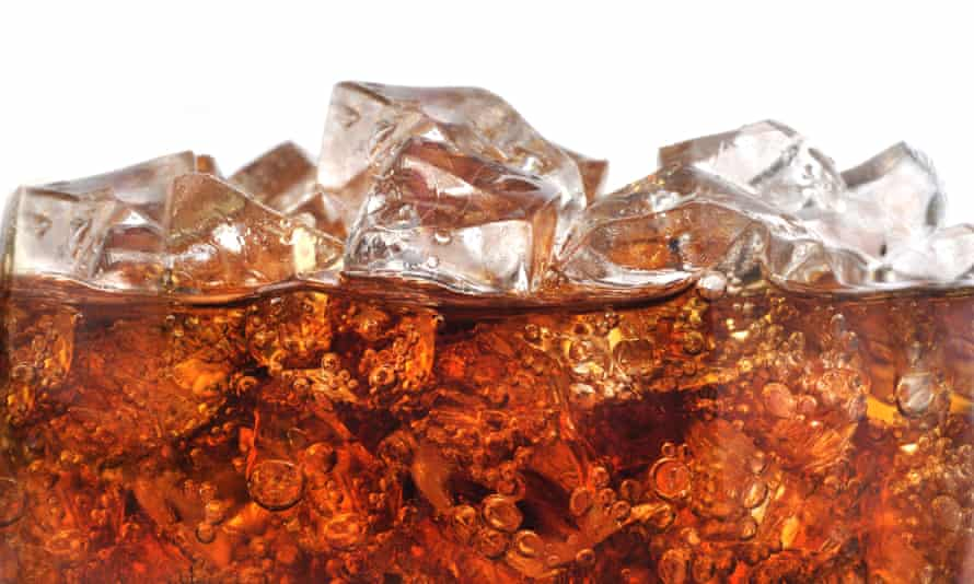 A soft drink on ice