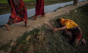 Rohingya refugees in Bangladesh, fleeing violence in Myanmar.
