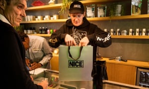 The first of 10 planned Mr Nice shops opened in Soho, London on Thursday.