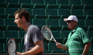 Ivan Lendl puts Andy Murray through his paces in a training session at Roland Garros.
