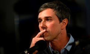 Beto O'Rourke in Cedar Rapids, Iowa, on Friday, where he said sorry for a 'ham-handed' campaign gag about his wife.