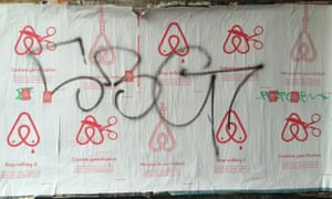 #boycottairbnb posters in Berlin