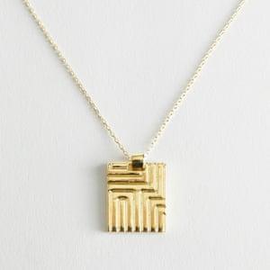 Square pendant, £17, stories.com