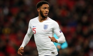 Joe Gomez after coming on in England's 7-0 rout of Montenegro.