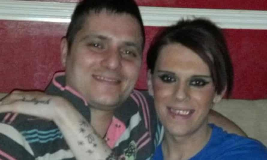 Vicky Thompson with her partner, Robert Steele